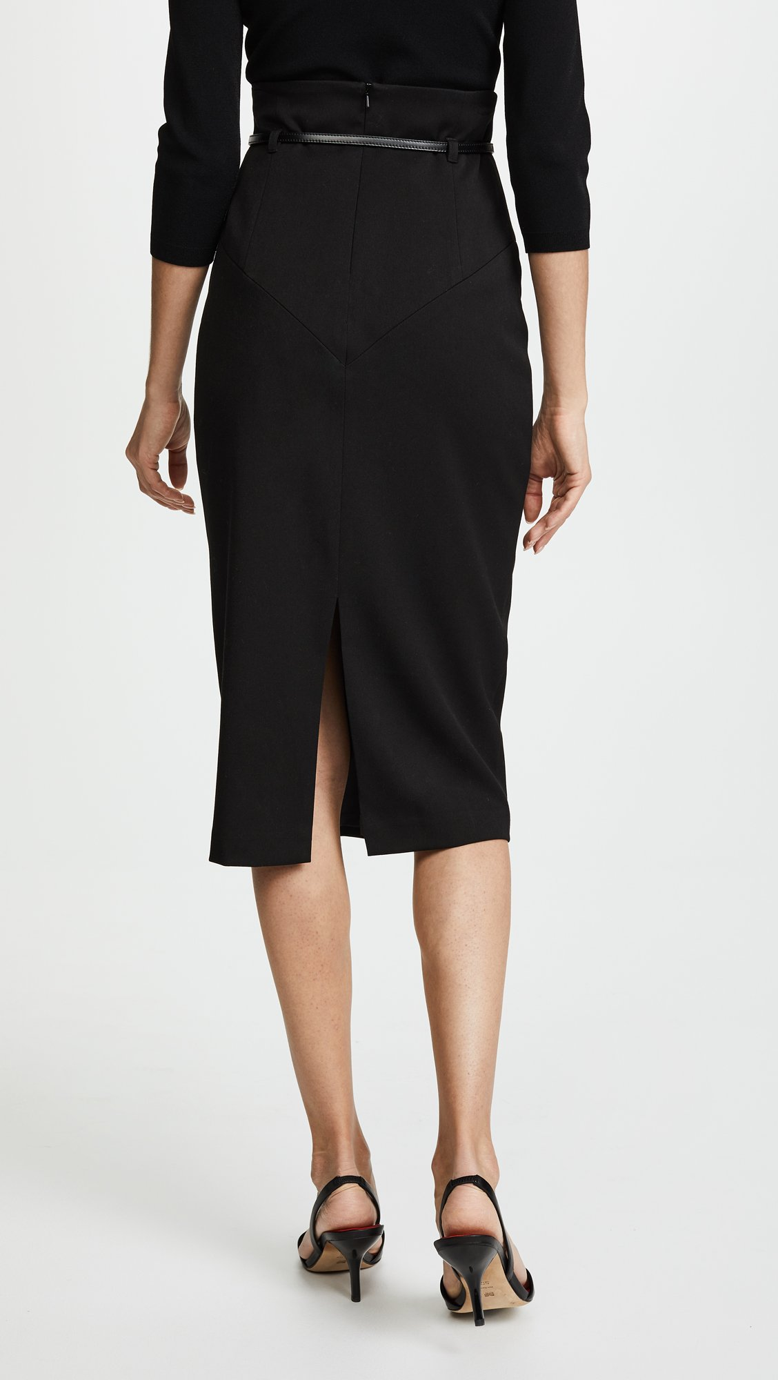 Black Halo Women's High Waisted Pencil Skirt, Black, 10 by Black Halo (Image #3)