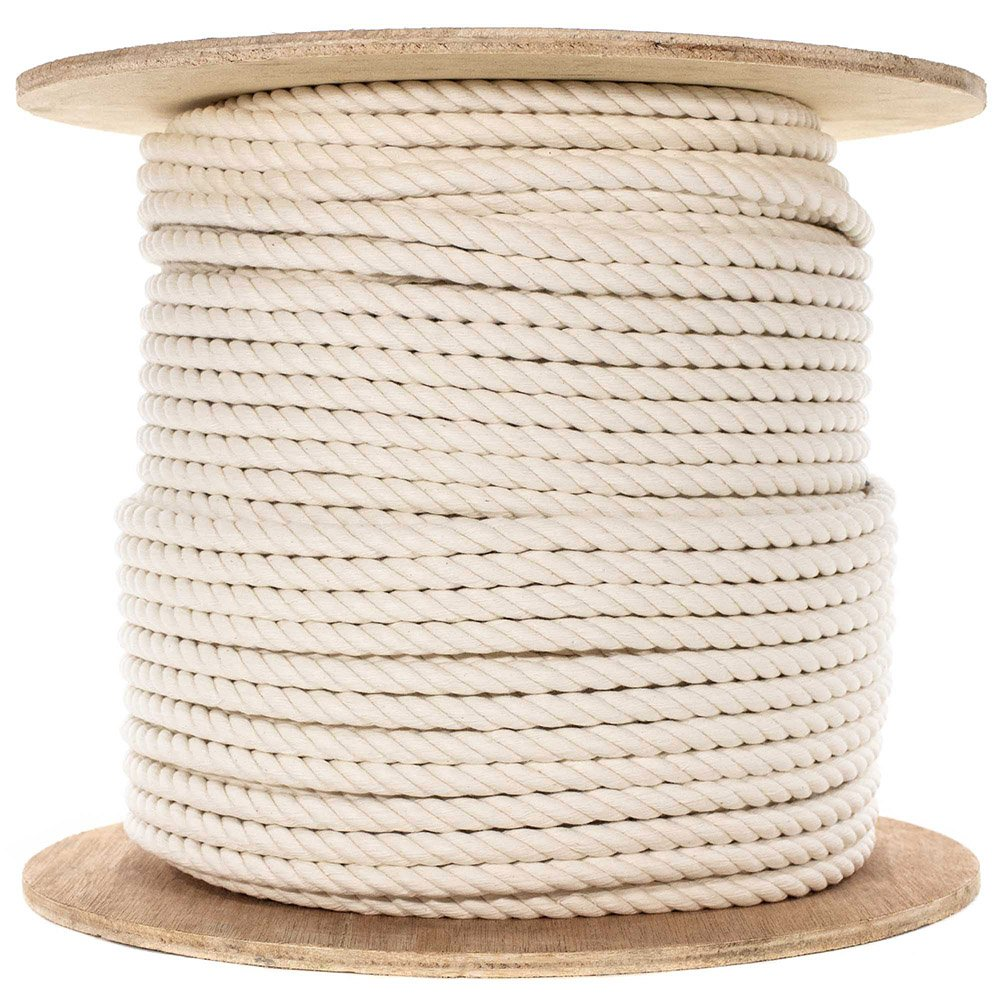 100/% Twisted White Natural Cotton Rope 3//8 inch Diameter Multiple Lengths to Choose PARACORD PLANET