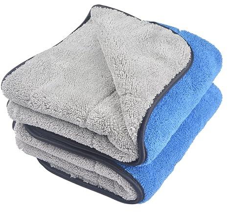 KinHwa 720 gsm doble capa coche paños toalla ultra grueso toallas de auto microfibra de limpieza