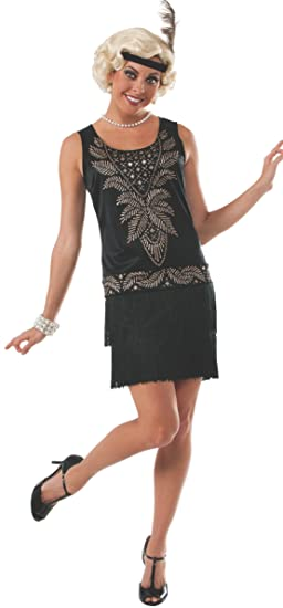 Black Flapper Dresses, 1920s Black Dresses Rubies Costume Womens Blood Line Adult Cocktail Flapper Costume $21.95 AT vintagedancer.com