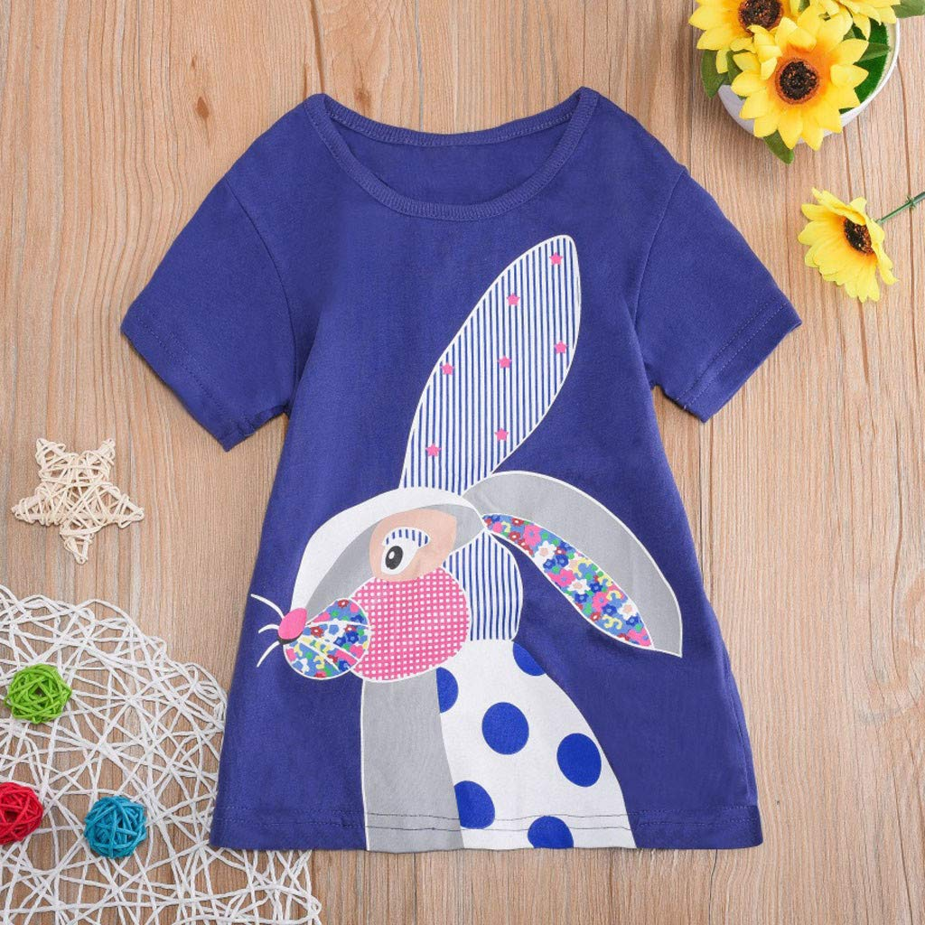 Toddler Kids Baby Boys Girls Clothes Short Sleeve Cartoon Tops T-Shirt Blouse by Sunsee (Image #2)