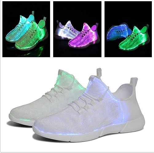 Unisex 7 Colors LED Luminous Light Up Shoes Men Women Trainer Sneaker USB Charge