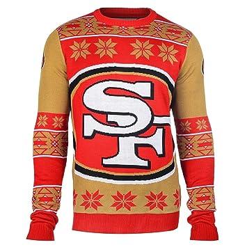 San Francisco 49ers Big Logo Crewneck Nfl Ugly Sweater Amazonde