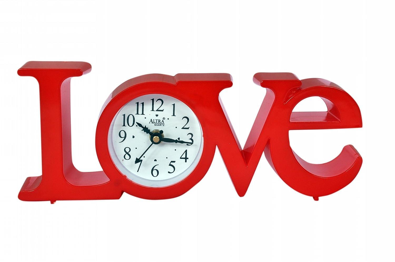 Altra Plastic Analog Wall Clock (25 cm x 10 cm x 5 cm, Red)