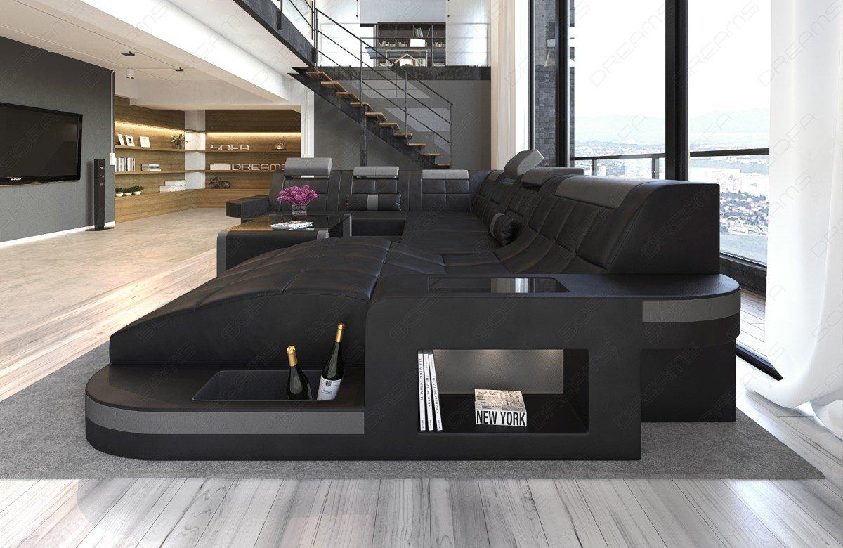 Wohnlandschaft design  Design Wohnlandschaft Wave XXL mit LED: Amazon.de: Küche & Haushalt