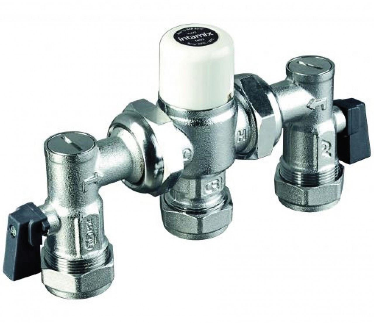 INTAMIX 15mm Thermostatic Mixer with Valves - 400MX15CP: Amazon.co ...