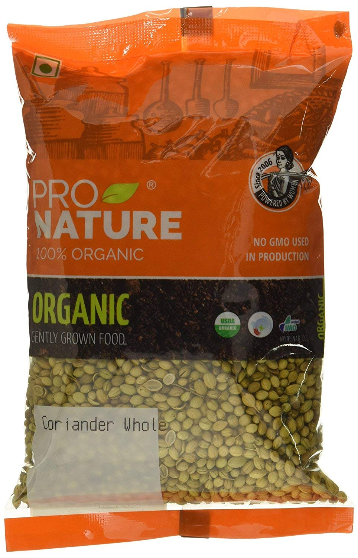Pro Nature 100% Organic Coriander Whole, 100 g