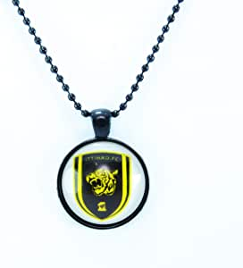 Black necklace with circle pendant in Al-ittihad Club logo