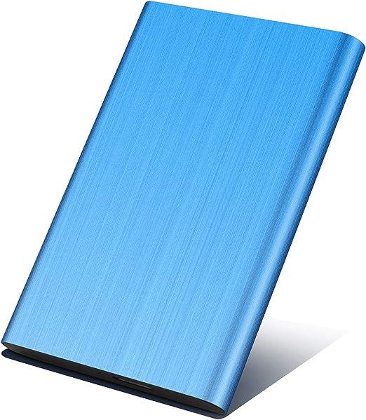 外付けハードディスク1TB/2TB ポータブルHDD外付けmac/pc/ps4/tv/xbox 対応 USB3.0/2.0 簡単接続 高速 (1TB, 青)