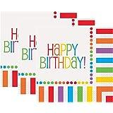 Rainbow Birthday Luncheon Napkins, 16ct (3 PACK)