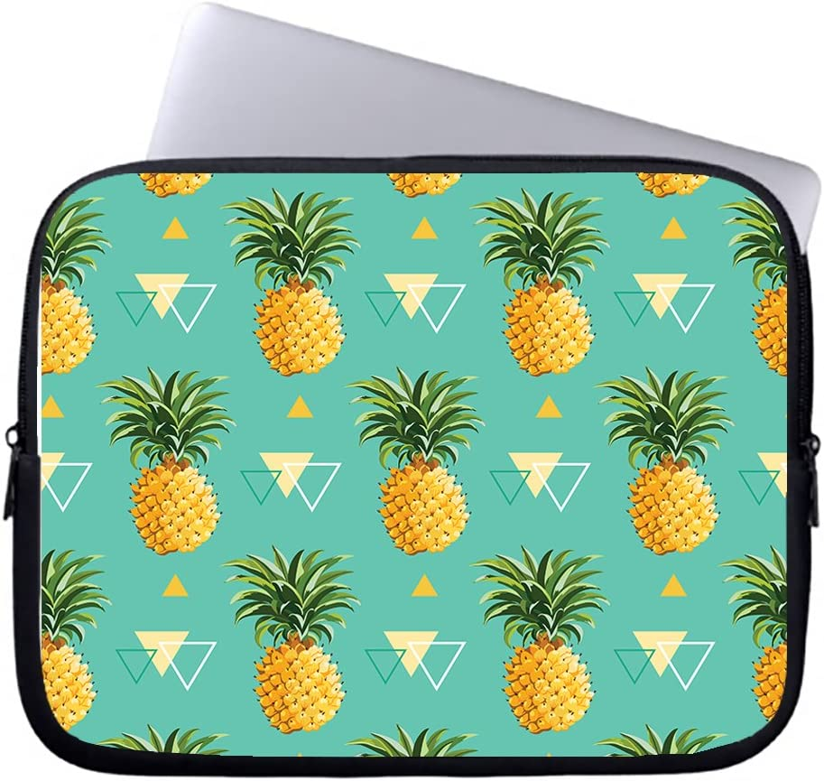 Neafts Tropical Pineapple Pattern Waterproof Neoprene Soft Sleeve Case for MacBook 12 Inch & MacBook Air 11.6 Inch and Laptop up to 12