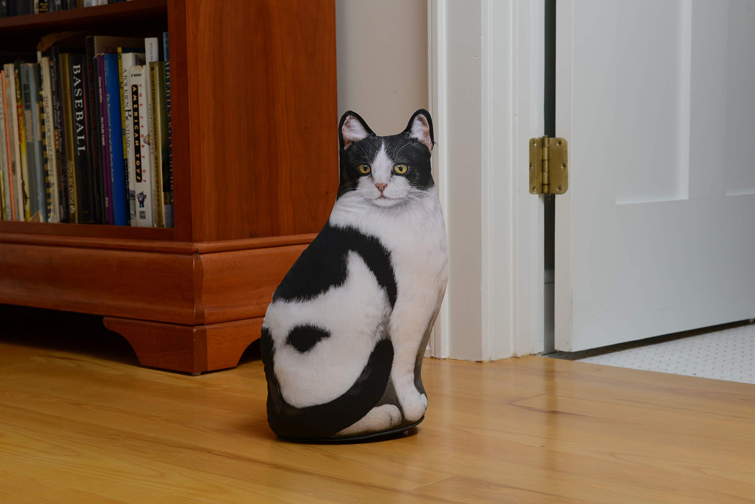 Black & White Cat Door Stop, Decorative Door Stopper, Interior, Unique Doorstop by Fiddler's Elbow