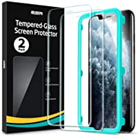 [2 Pack] ESR Screen Protector Compatible for iPhone 11 Pro/iPhone Xs/X [Easy Installation Frame] [Case Friendly…
