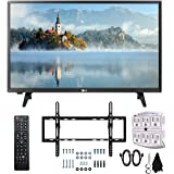 "LG 28LJ400B-PU 28"" Class HD 720p LED TV (2017 Model) with Slim Flat Wall Mount Kit and 750 Joule 6-Outlet Surge Adapter Ultimate Bundle"