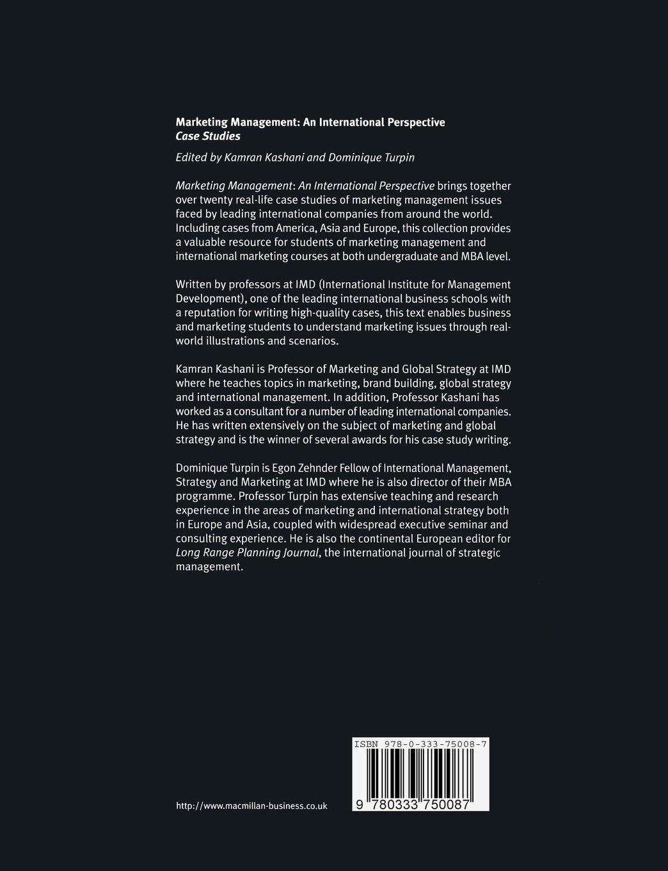 Marketing Management: An International Perspective: Case Studies (International Marketing Series)