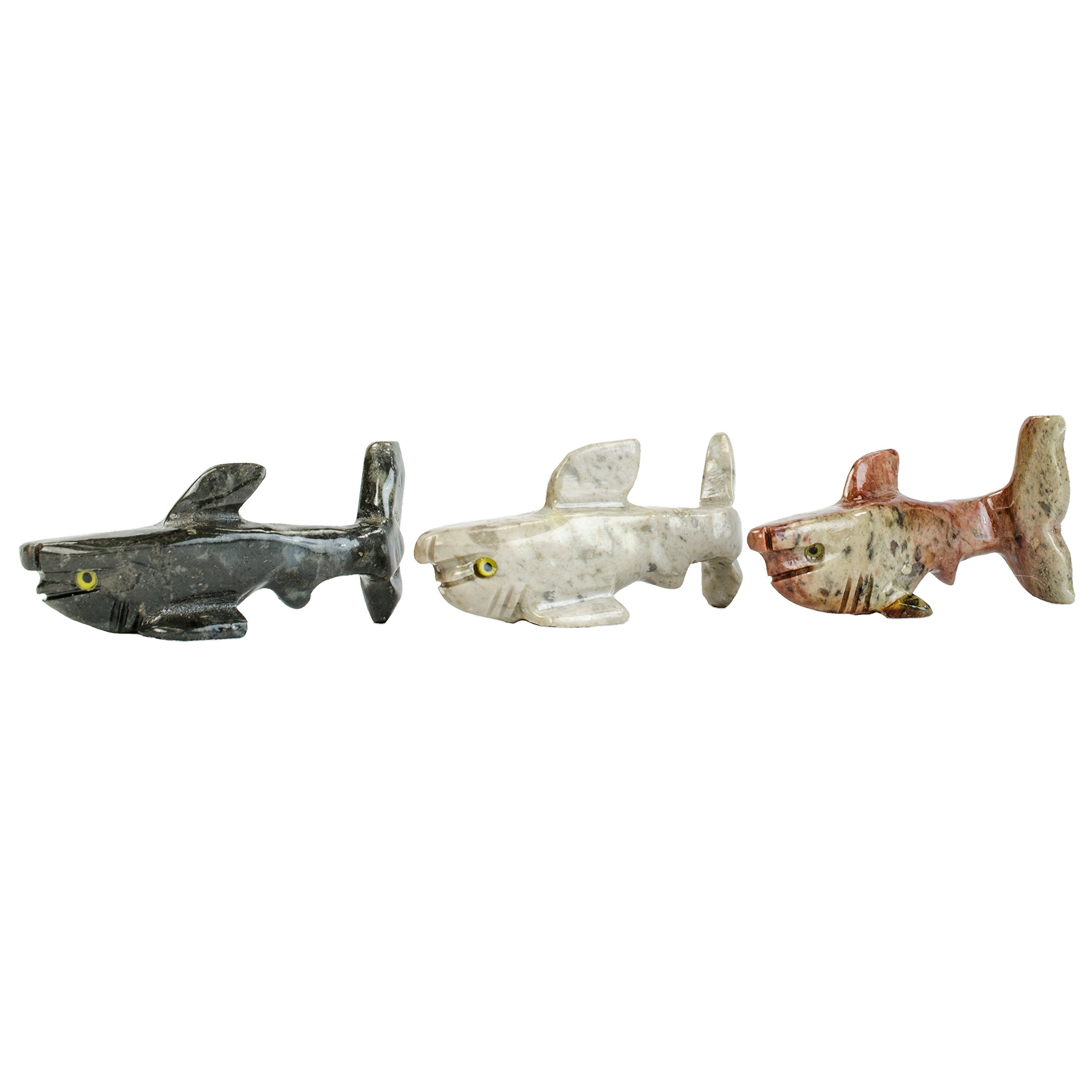 Digging Dolls : 10 pcs Artisan Hammer Head Shark Collectable Animal Figurine - Party Favors, Stocking Stuffers, Gifts, Collecting and More!