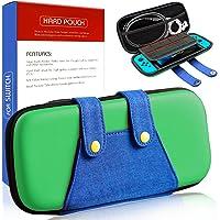 haobuy étui Kit pour Nintendo Switch, [Coque Protection Intégral Compatible avec Nintendo Switch ][Capacité Grande pour Les Jeux] Housse étui pour Nintendo Switch Accessoire-Vert