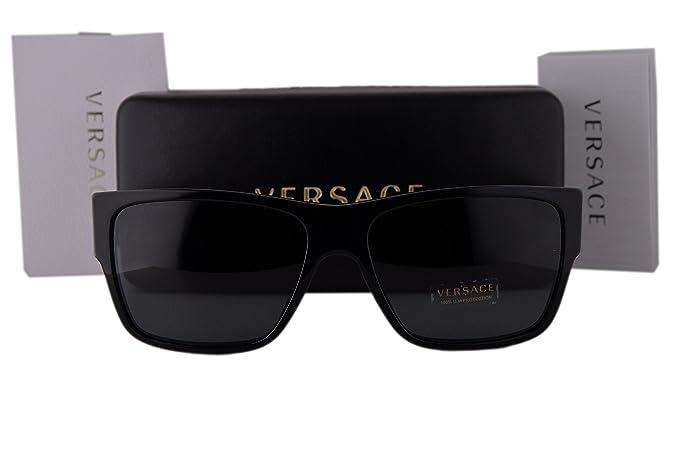 1d1bba338f Versace VE4296 Sunglasses Black w Polarized Gray Lens GB187 VE 4296 ...