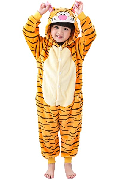 ae95729fa3fb Amazon.com  Duraplast Kids Tiger Dress Up Costume Onesie Play Outfit   Clothing