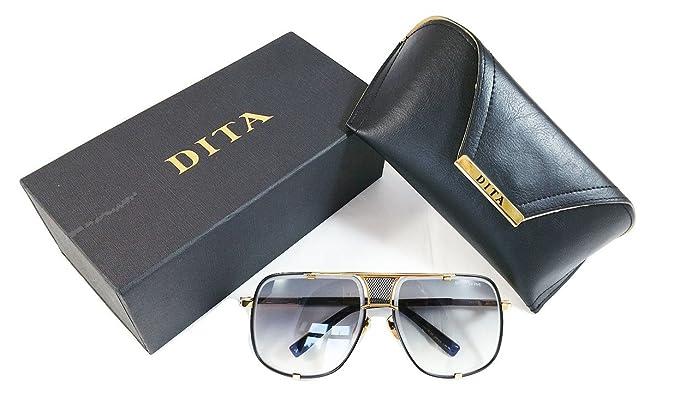 6e987d7fadc Dita Mach Five Gafas de sol Gold   Negro con lente gradiente destello Gris   Amazon.es  Ropa y accesorios