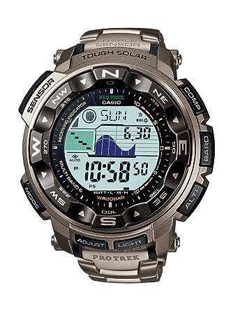 Image Unavailable. Image not available for. Colour  Casio Men s Pro Trek  Digital Watch with Titanium ... c0dbb5ced7be
