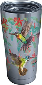 Tervis Colorful Hummingbirds Stainless Steel Insulated Tumbler with Lid, 20 oz, Silver