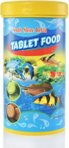 Premium Tropical Fish Food - Stick On Tablets 4.58oz 250ml - Sticks On Aquarium Glass for Fun with All Types of Fish! - Pellet Fish Food- Compare to Sera O-Nip!