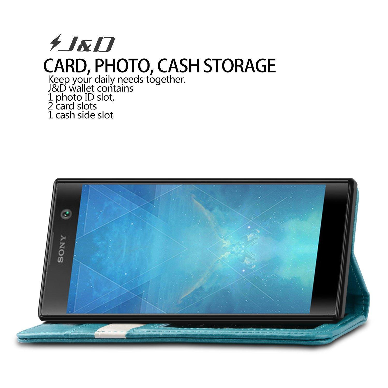 J&D Compatible para Xperia XA2 Funda, [Protección de Cartera] [Soporte Plegable] Funda Pesada Resistentes Billetera para Sony Xperia XA2 Funda Cuero - ...