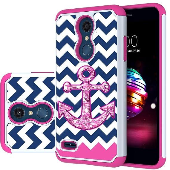 new style e9a05 0c144 LG K30 Case, LG Phoenix Plus/LG Harmony 2/LG K10 2018/LG Premier Pro  Case,MAIKEZI Hybrid Dual Layer TPU Plastic Phone Case for LG K10 Plus/LG  K10 ...