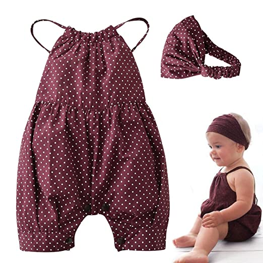Baby Girls Halter Backless Bowknot Ruffle Romper and Shorts Outfits Set with Headband