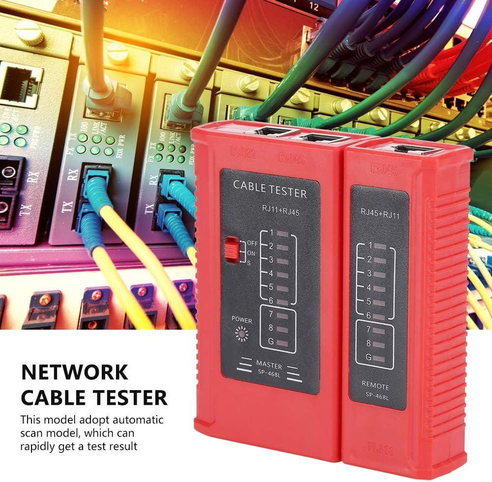 WZ-468 Traceur de c/âble r/éseau RJ45 et RJ11 Outil de test r/éseau LAN Ethernet D/étecteur de c/âble r/éseau