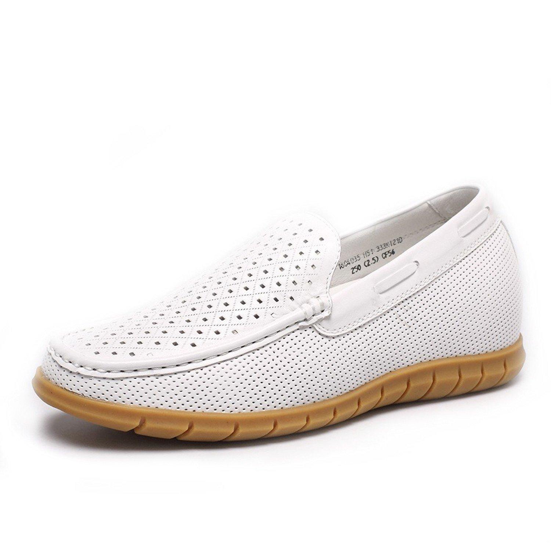 CHAMARIPA Aufzug Schuhe Herren Sportschuhe Turnschuhe Sneakers - 55 cm H?her - DL227H12 iexcl;shy;  45 EU|Wei?01