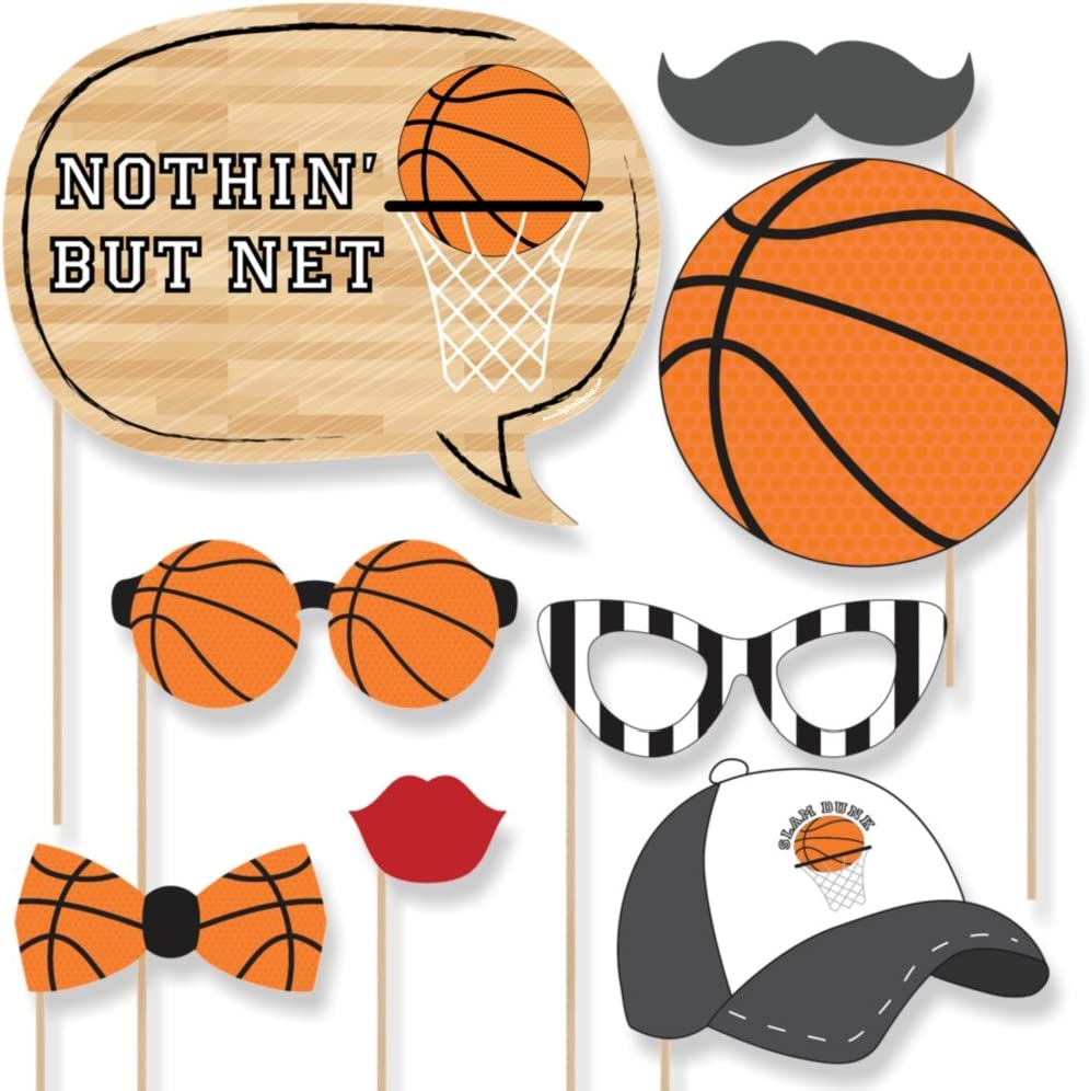 Nothin pero – Red baloncesto Photo Booth props Kit – 20 Count ...