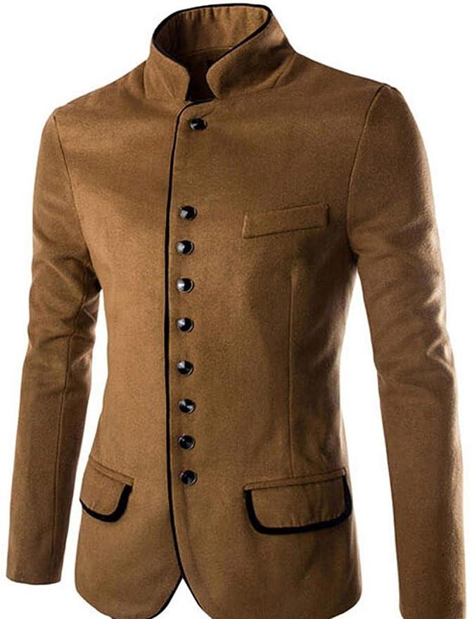 Jeansian Moda Chaqueta Abrigos Blusas Chaqueta Hombres Mens Fashion Jacket Outerwear Tops Blazer 9388: Amazon.es: Ropa y accesorios