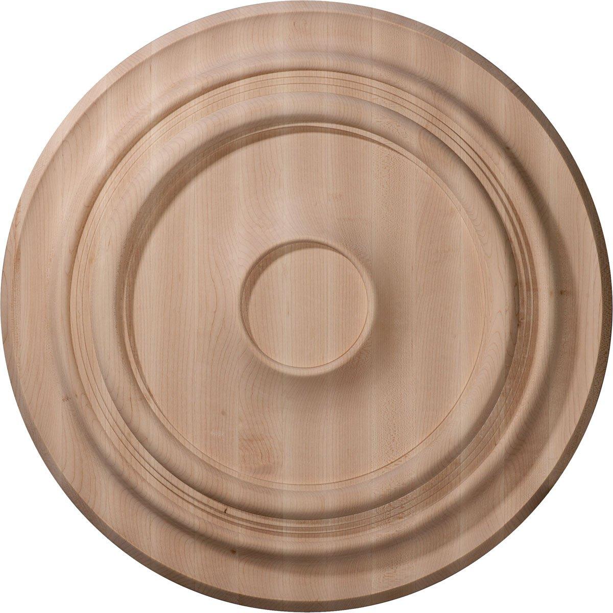 Ekena Millwork CMW16TRRO Ceiling Medallion, 16''OD x 1 1/8''P, Red Oak by Ekena Millwork