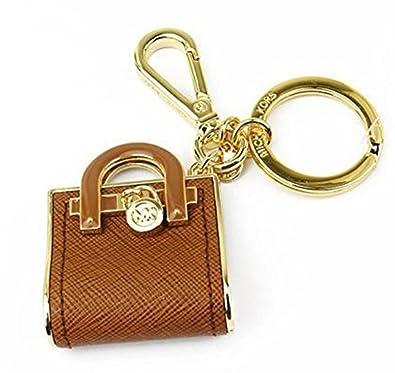 michael kors hamilton bag key fob hand bag charm acorn brown amazon rh amazon co uk