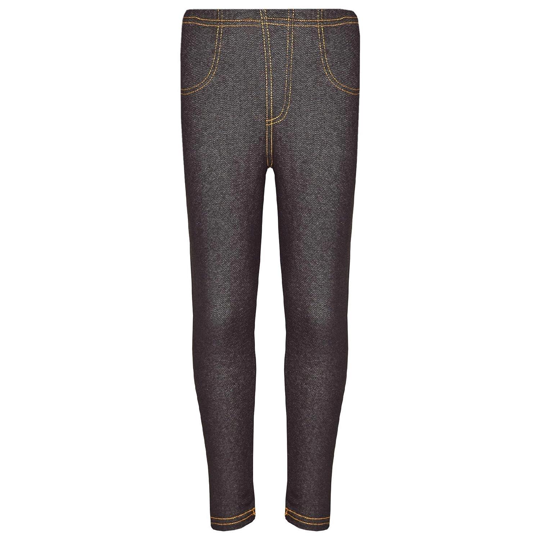 Kids Girls Stretchy Jeggings Black Denim Jeans Pants Leggings Trousers 2-13 Year