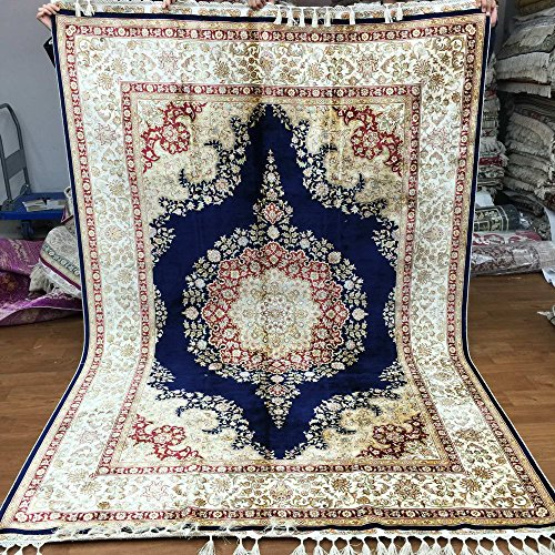 9 X 12 Nourison Nourmak Hand Knotted 100 Wool Persian: Amazon.com: 5.5'x8' Blue Persian Oriental Hand Knotted