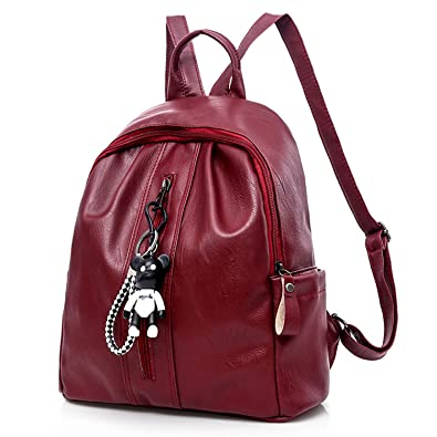 710e8ada8b9d Amazon.com: Evan Fordd Pu Leather Women Backpack Fashion School Bags ...