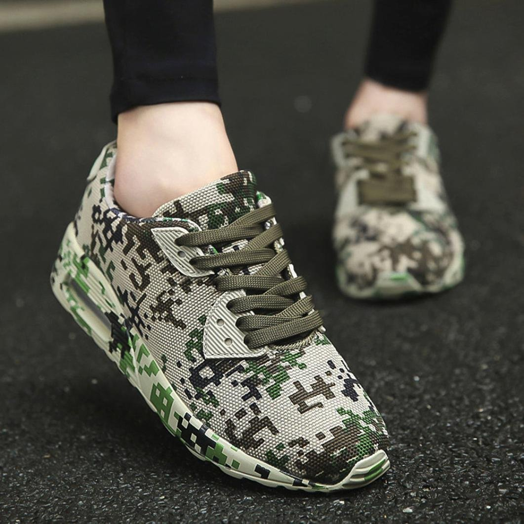 Hemlock Women Sneakers, Women's Athletic Shoes Casual Outdoors Shoes Lace Up Running Sports Shoes (US:7.5, Army Green)