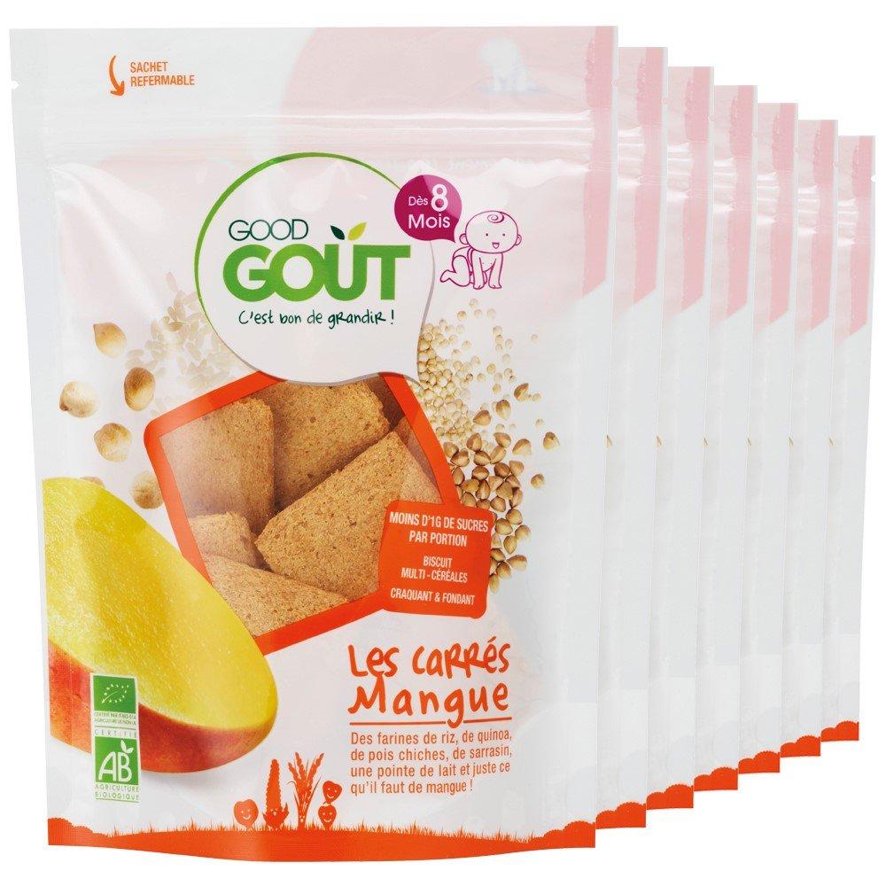 Good Goût - BIO - Les Carrés Mangue 50 g - Pack de 7 3770002327975
