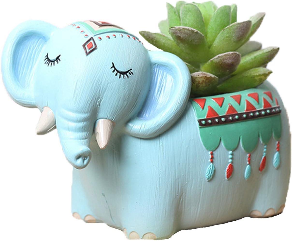 Youfui Home Decor Pot, Animal Succulent Planter Flowerpot for Home Office Desk Decoration (Cool Elephant)