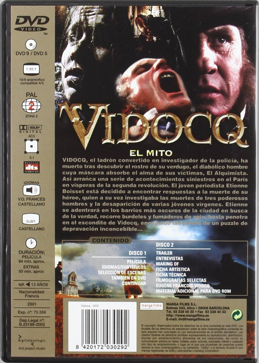 Vidocq [DVD]: Amazon.es: Varios, Pitof: Cine y Series TV