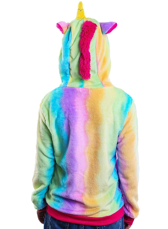 Expression Tees Unicorn Youth Full Zip Fleece Hoodie with Unicorn Hood