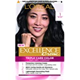 L'Oréal Paris Excellence Creme, 1 Black (100% Grey Coverage)