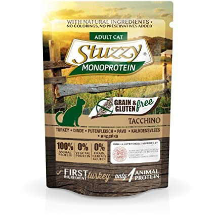 Stuzzy Grain Free Monoprotein Pavo Comida humeda para gatos
