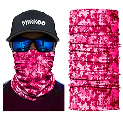 MIRKOO Outdoor Camouflage Face Mask, Breathable Seamless Tube Dust-proof Windproof UV Protection Motorcycle Bicycle ATV Face Mask for Motorcycling Cycling Hiking Camping Climbing Fishing (OCAMO-346): Automotive