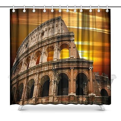 Amazon INTERESTPRINT Roman Colosseum At Sunrise Bathroom Decor