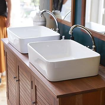 Waschbecken aus keramik Aufsatzwaschbecken Badezimmer Waschtisch ...