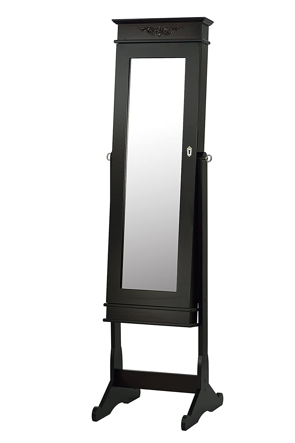 Jewelry Armoire with Mirror (WO-W6074) Dark Brown ViscoLogic